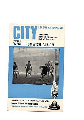 Manchester City  Football Programmes 1950's to 1980's  -  Various Fixtures