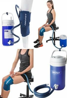 Aircast Cryo Cuff Knee Cold Therapy Machine Cooler for Solution - Blue Large...