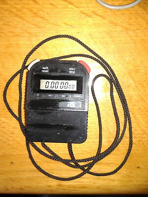 Vintage RS Components Pro Digital Handheld Sports Stopwatch Stop Watch + Lanyard