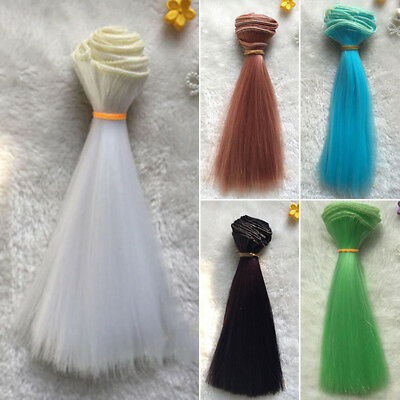For Girl 15*100cm 6*40in Colorful Curly Wave Doll Wigs Synthetic Hair For Dolls#