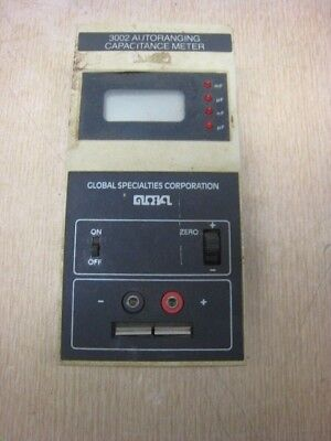 Global Specialties 3002 AUTORANGING Capacitance Meter USED FREE SHIPPING
