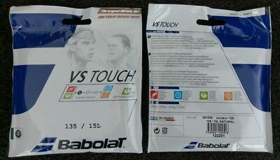 2x 12m Sets of Genuine Babolat VS TOUCH Natural Gut 1.35mm Tennis String