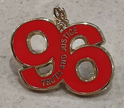 Liverpool Stud Badge  - 96 Truth and Justice - Eternal Flame - Red and Gold
