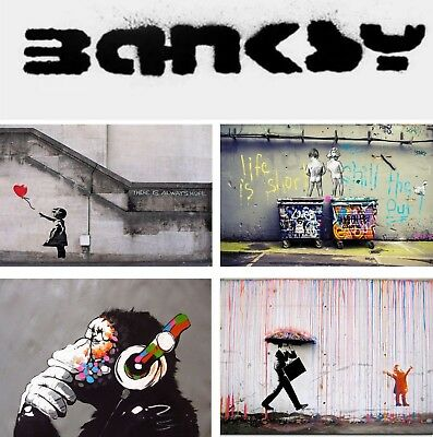 Banksy Street Art Print Colorful Pictures Graffiti