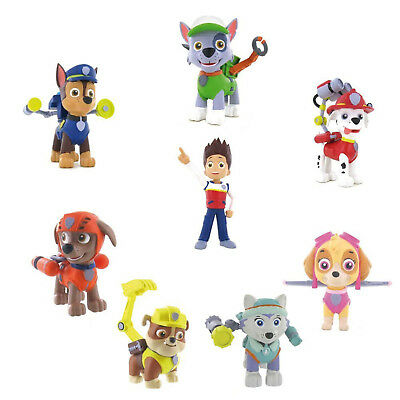 Comansi Paw Patrol Toy Figures Cake Decorating Toppers Chase Skye Marshall Rocky