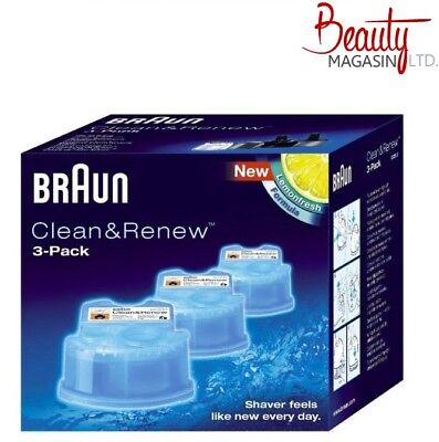BRAUN SHAVER CLEANER CCR3 FOR 790cc 590cc 570cc 390cc Series: 3, 5, 7, 9 *New*