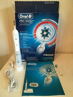 Oral-B Pro 5000 SmartSeries Power Rechargeable Electric Toothbrush ~ Bluetooth