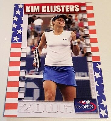 Kim CLIJSTERS 2006 US OPEN Collector Edition card #13/25 FA Productions Tennis
