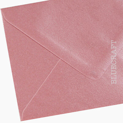 "250 x A6 C6 Shell Pink Pearlescent Premium Envelopes 114 x 162mm - 6 x 4"" approx"