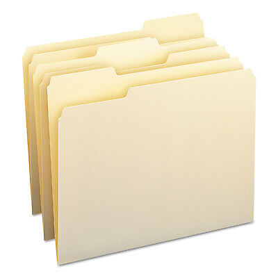 Smead File Folders 1/3 Cut Assorted One-Ply Top Tab Letter Manila 100/Box 10330