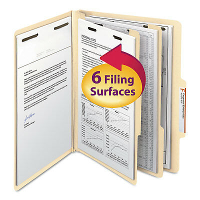 Smead Manila Classification Folders with 2/5 Right Tab Letter Six-Section 10/Box