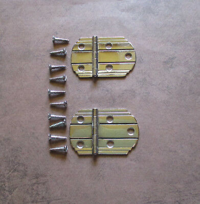 Pair of vintage hinges for flush doors black lines Amerock – Art Deco Style
