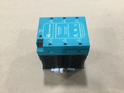 Continental RVD3/6V75T/L Solid State Relay 3 Phase 24 To 660 VAC 4-32 #008D15