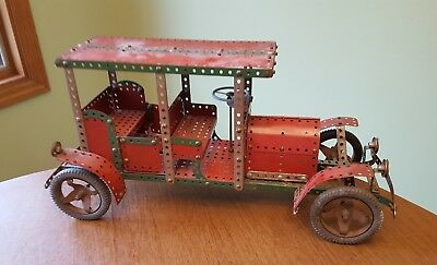 Antique MECCANO England BRASS ERA Automobile Toy Store Display circa 1927 +/-