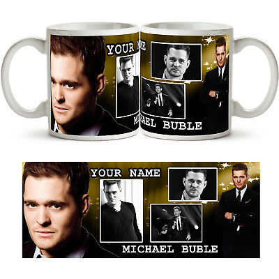 MICHAEL BUBLE PERSONALISED Ceramic Photo Mug Cup Tea Coffee Add Any Name Gift