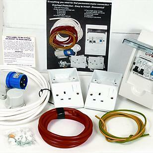 CARAVAN INSTALLATION ELECTRICAL KIT - CONSUMER UNIT + SURFACE MAINS INLET camper