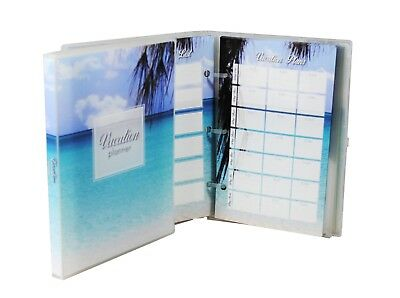 Mini Vacation Planner and Scrapbook, 3 Trips, 15 Page Protectors - Beach