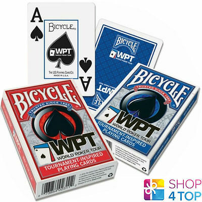 Bicycle Wpt World Poker Tour Jumbo Index Playing Cards Magic Tricks Red Blue New