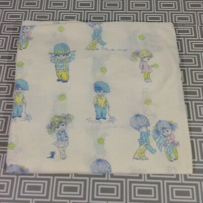 Fitted Baby Crib Sheet Fran Mar Moppets Vintage Rare 1970 70's Cutters Quilt