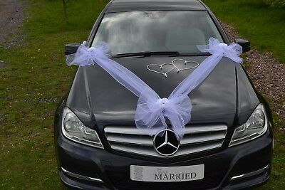 RIBBON WITH BOWS wedding car decoration, prom limo decoration  slub wesele