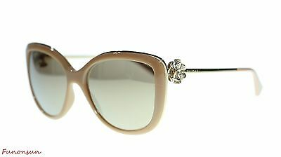 360cf5c1cb59c BVLGARI WOMEN S SUNGLASSES BV6094 278 5A Cat Eye Beige Brown Mirror Lens  57mm -  279.00