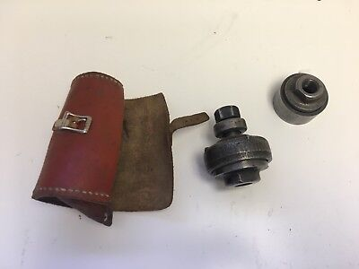 Greenlee Punch Set With Leather Pouch Unknown Model