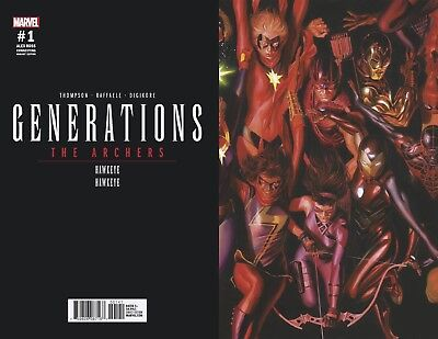 Marvel Generations The Archers (Hawkeye) 1:50 Alex Ross connecting variant