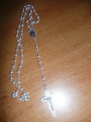 Metal silver colour  CHAPELET N.D Fatima neuf ( necklace , religion)