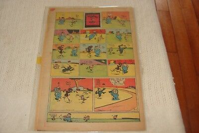 KRAZY KAT Original Newspaper Cartoons 1940's 3 pages, King Features Syndicate