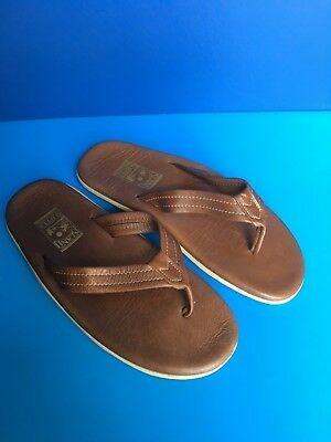 226a0f97059 Island Slipper MENS Flipflops Hand made Leather Sandals Size 12 RRP  110