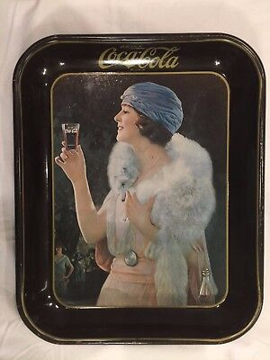Beautiful Vintage Coca Cola Serving Tray - Girl in Blue Hat!!