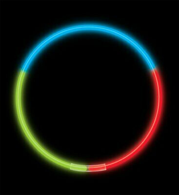 "22"" Premium Tri-Colour Glow Necklaces (volume & color options)"