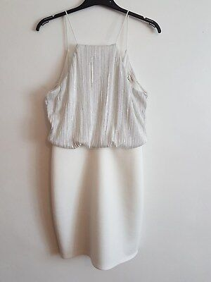 Ref 75 - NEW, RIVER ISLAND- Ladies Womens Girls White Formal Party Dress Size 10