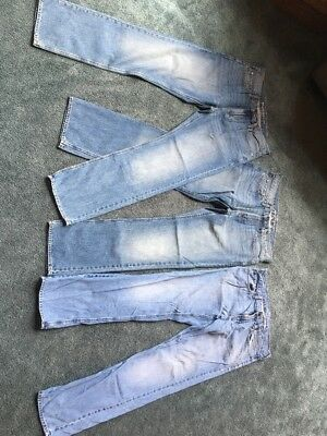 Lot Of 3: Old Navy Straight Blue Jeans  Men Size 34x34 2 New 1 Used