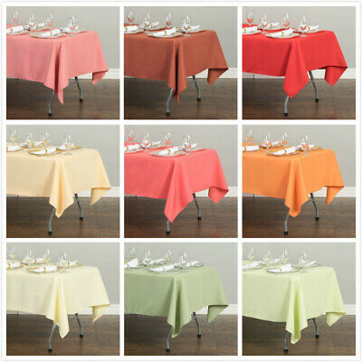 LinenTablecloth 60 x 126 in. Rectangular Poly Tablecloths , 33 Colors! for Event