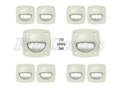 Set of 10: Interior White 12V Courtesy LED Light - Boats, Caravans, RVs - Five O