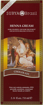 Henna Cream Chocolate, Surya Brasil, 2.3 oz 1 pack