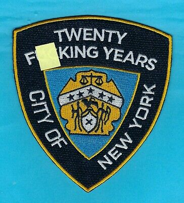 New York City Police Department 20-Year Retirement Novelty Patch ~ Outstanding