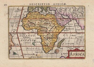 1602 Lovely Bertius Map of Africa
