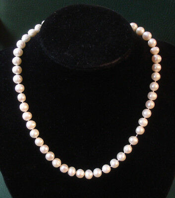 Fresh water cultured 8mm pearl necklace 17.75""
