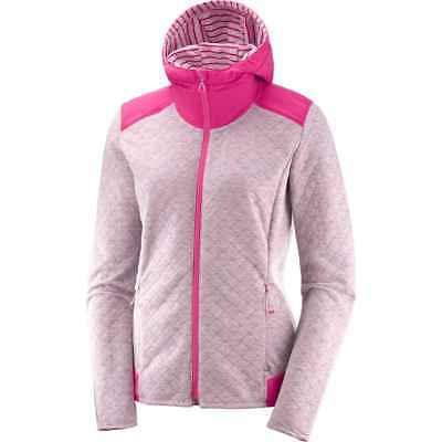 Salomon 2018 Women's Elevate Full-Zip Midlayer Running Top - Pink Mist -
