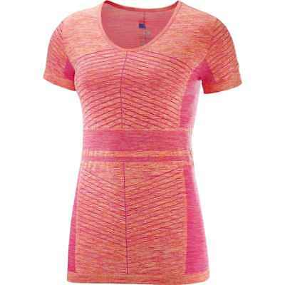 Salomon 2018 Women's Elevate Move'On Short Sleeve Tee - Pink Yarrow/Bird Of