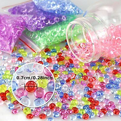 Fishbowl Colorful Beads for Crunchy Homemade Slime Decoration DIY Crafts Party