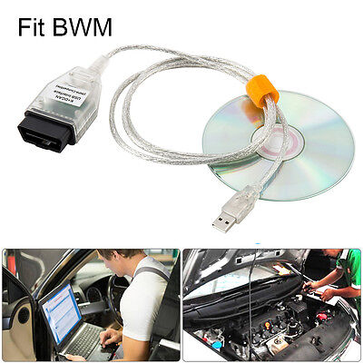 USB OBD2 OBDII Diagnostic Tool Interface Cable Car Scanner K+DCAN for BMW INPA