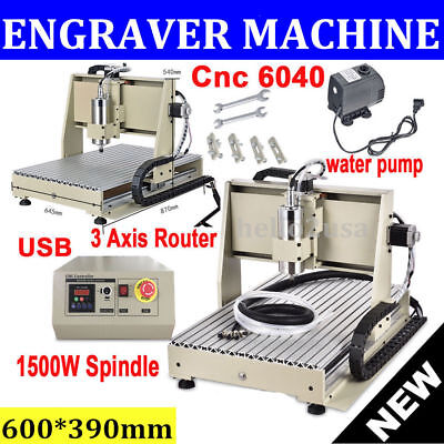 3 Axis CNC 6040 Router Engraver Metalworking Milling Machine Carving Drill Tool