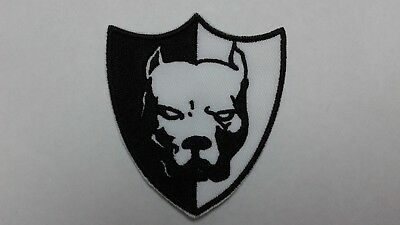 "1 pc PIT BULL EMB.PATCH 2-7/8X2-1/2"" HOOK BACK."