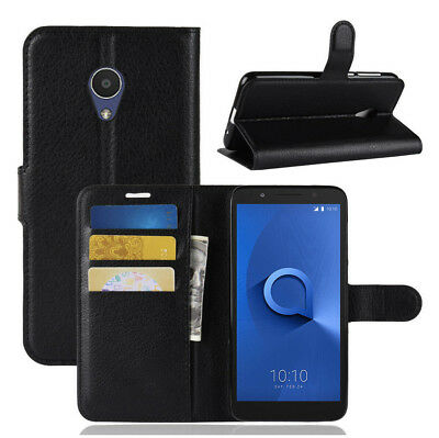 For Alcatel 1X 5059D Wallet Flip PU Leather Card Slot Case Stand Skin Cover