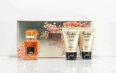POMELLATO NUDO AMBRA EDP EAU DE PARFUM 25 ml Bagnoschiuma 30 ml BL 30 ml Nel set