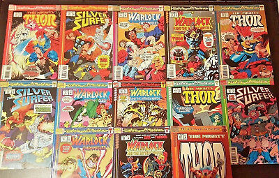 Blood & Thunder#1-13 Vf/nm Lot 1993 Thor, Silver Surfer, Warlock, Thanos Marvel