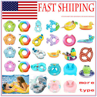 USA Inflatable Circle Newborn Neck Float Infant Baby Swimming Swim Ring Safety*